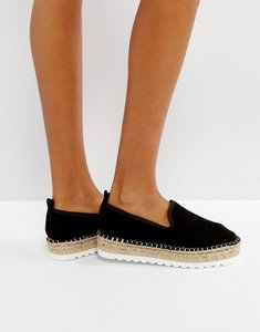 Read more about Asos jockey suede chunky espadrilles - black suede