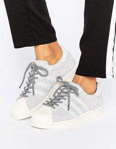 Read more about Adidas originals grey suede superstar trainers - grey