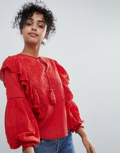 Read more about New look ruffle blouse - bright red