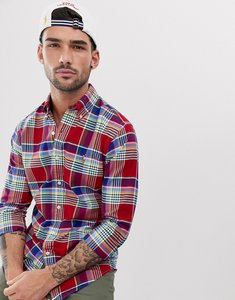 Read more about Polo ralph lauren check oxford shirt slim fit button down multi player logo in red