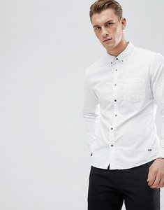 Read more about Esprit slim fit oxford shirt with button down collar in white - 110