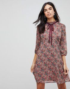 Read more about Traffic people printed tea dress with bow detail - red