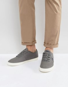 Read more about Polo ralph lauren halford trainers canvas in charcoal grey - charcoal