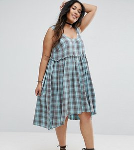 Read more about Asos curve check smock sundress - multi