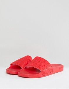 Read more about Slydes cali logo slider flip flops in red - red