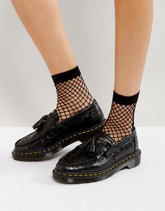 Read more about Dr martens adrian croc tassle loafers - black new vibrance c