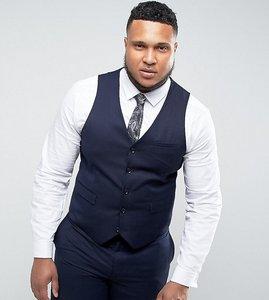 Read more about Harry brown plus plain waistcoat - blue