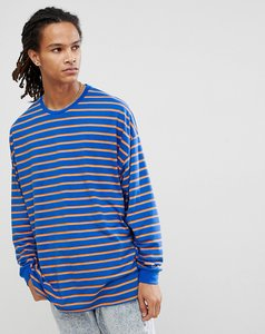 Read more about Asos design oversized stripe long sleeve t-shirt - bright blue orange