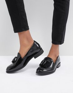 Read more about H by hudson fringe leather loafer - black box leather