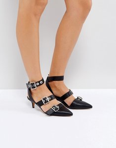 Read more about Asos shanghai kitten heels - black