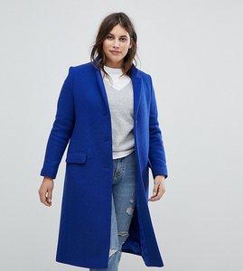 Read more about Helene berman plus college wool blend coat - dark royal