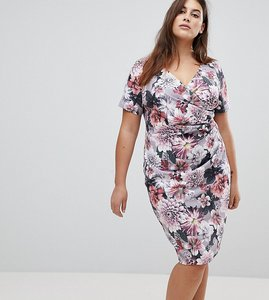 Read more about Paper dolls plus floral printed wrap dress - multi