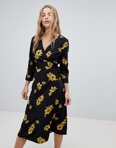 Read more about Miss selfridge floral wrap midi dress - floral