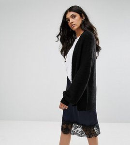 Read more about Asos tall chunky cardigan with volume sleeves - black