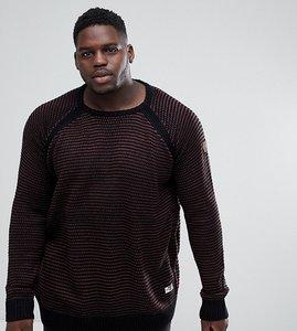 Read more about Duke plus raglan sleeve sweatshirt - black