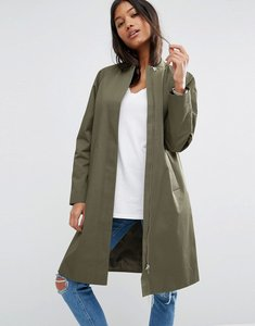 Read more about Asos mac with minimal styling - khaki