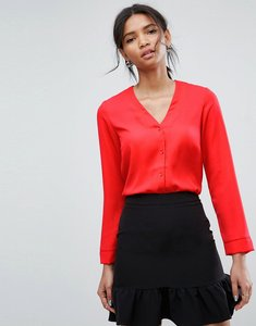 Read more about Asos v neck blouse - red