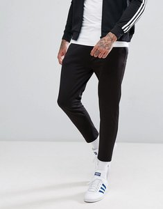 Read more about Asos skinny cropped joggers in poly tricot - black