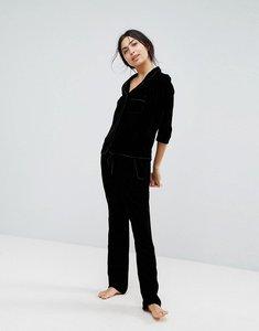 Read more about Hunkemoller velvet pant - black