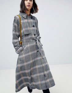 Read more about Asos design trench in check - multi