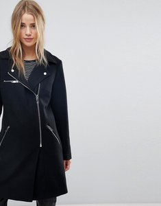 Read more about New look formal biker coat - black