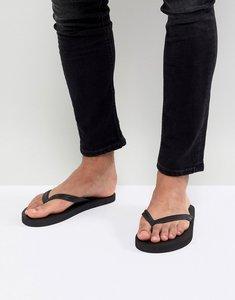 Read more about Asos design flip flops in black - black