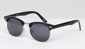Read more about Asos polarised classic retro sunglasses - black