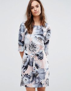 Read more about Selected printed 3 4 dress - flower print
