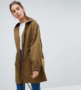 Read more about Asos design tall light weight parka - khaki