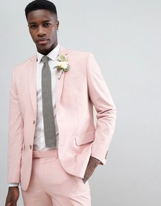 Read more about Farah skinny suit jacket in pink - rose