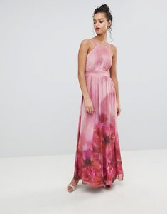 Read more about Little mistress high neck full bloom floral maxi dress - multi