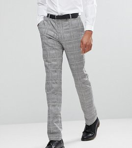 Read more about Heart dagger skinny suit trousers in prince of wales check - grey