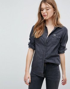 Read more about Lee regular fit western denim shirt - black