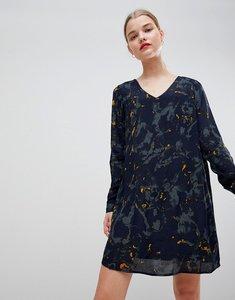 Read more about Vero moda printed v back dress - navy blazer