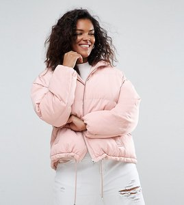 Read more about Asos curve ultimate puffer jacket - pink