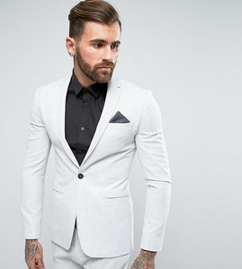 Read more about Religion super skinny suit jacket in pale grey - grey