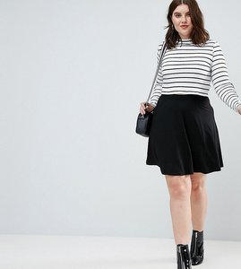 Read more about Asos curve mini skater skirt with pockets - black