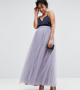 Read more about Little mistress maternity maxi tulle prom skirt - dusky lilac