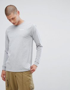 Read more about Patagonia long sleeve top with logo sleeve print in grey - drifter grey