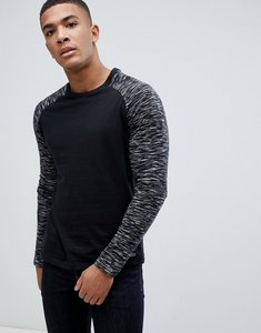 Read more about Brave soul long sleeve crew neck top - black