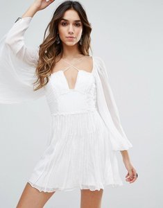 Read more about Free people aquarius layered party dress - ivory