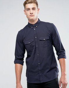 Read more about French connection slim fit shirt with double pocket - navy