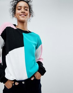 Read more about Asos jumper in colourblock - multi