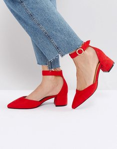 Read more about Raid delia red ankle strap heeled shoes - red