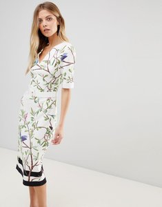 Read more about Ted baker evrely bodycon dress in highgrove print - white