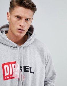 Read more about Diesel s-alby logo hoodie grey - grey