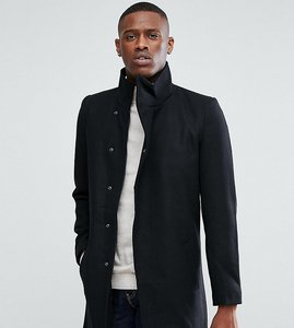 Read more about Only sons funnel neck overcoat - black