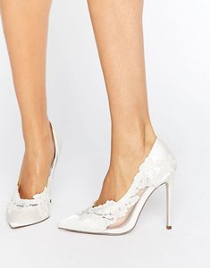 Read more about Asos pure bridal pointed lace heels - ivory