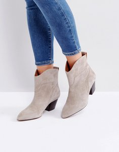 Read more about Hudson london karyn taupe suede mid heeled ankle boots - taupe suede