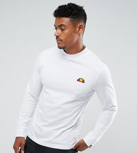 Read more about Ellesse long sleeve t-shirt with large logo in white - white